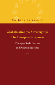 Globalisation vs. Sovereignty? The European Response