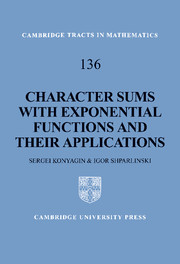 Character Sums with Exponential Functions and their Applications