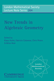 New Trends in Algebraic Geometry