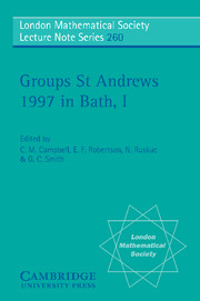 Groups St Andrews 1997 in Bath