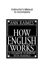 How English Works Instructor's Manual