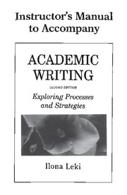 Academic Writing Instructor's Manual