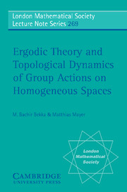 Ergodic Theory and Topological Dynamics of Group Actions on Homogeneous Spaces