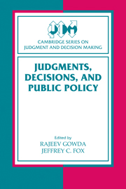 Judgments, Decisions, and Public Policy