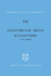 Permutation Group Algorithms