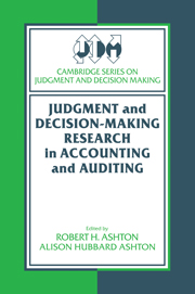 Judgment and Decision-Making Research in Accounting and Auditing
