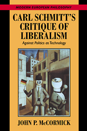 Carl Schmitt's Critique of Liberalism