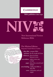 New International Version Bible Pitt Minion Reference Edition