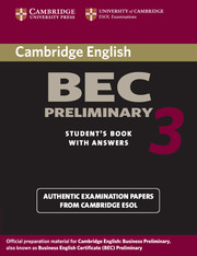 Cambridge BEC Preliminary 3
