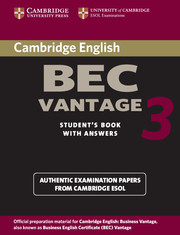 Cambridge BEC Vantage 3
