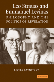 Leo Strauss and Emmanuel Levinas