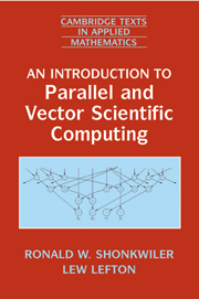 An Introduction to Parallel and Vector Scientific Computation