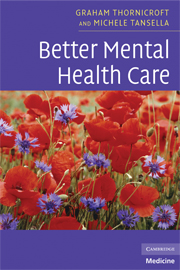 Better Mental Health Care