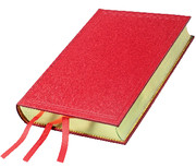 Book of Common Prayer Desk Edition, Red Goatskin Leather over Boards, CP826B