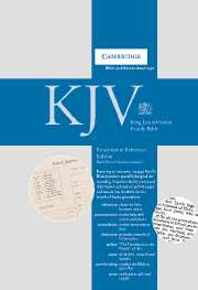 KJV Presentation Reference Edition CD283FH black Fr Morocco leather