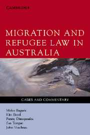Migration and Refugee Law in Australia