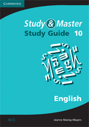 Study and Master English Study Guide Grade 10