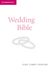 KJV Wedding Bible, Ruby Text Edition, White Imitation Leather, KJ222:T