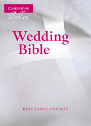 KJV Wedding Bible, Ruby Text Edition, White French Morocco Leather, KJ223:T