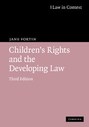 childrens rights and developing law 3rd edition family law