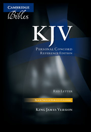 KJV Personal Concord Reference  Bible, Black French Morocco Leather, Red-letter Text, KJ463:XR