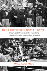 To the Threshold of Power, 1922/33