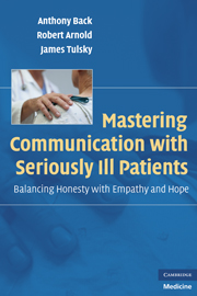 Mastering Communication with Seriously Ill Patients