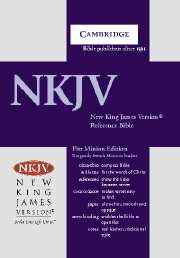 NKJV Pitt Minion Reference Edition NK443:XR burgundy French Morocco leather