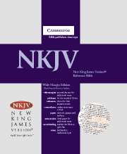 NKJV Wide Margin Reference Edition NK743:XRM black French Morocco leather