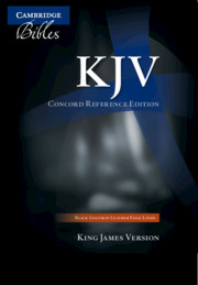 KJV Concord Reference Bible, Black Edge-lined Goatskin Leather, KJ566:XE