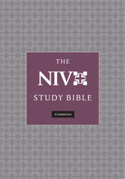 NIV Study Bible N1686:XRS burgundy goatskin leather