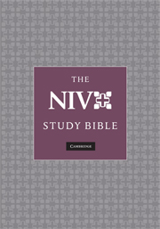 NIV Study Bible N1686:XRS black goatskin leather