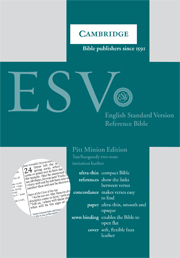 ESV Pitt Minion Reference Bible, Tan Imitation Leather, ES442:X