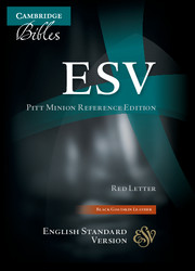 ESV Pitt Minion Reference Bible, Black Goatskin Leather, Red-letter Text, ES446:XR