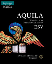 ESV Wide Margin Reference Bible, Black Edge-lined Goatskin Leather, Red-letter Text, ES746:XRME