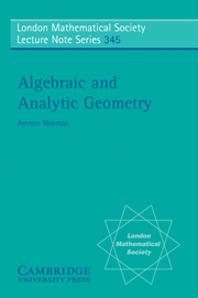 Algebraic and Analytic Geometry