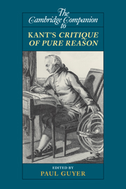 The Cambridge Companion to Kant's <I>Critique of Pure Reason</I>