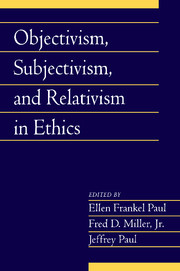 Objectivism, Subjectivism, and Relativism in Ethics