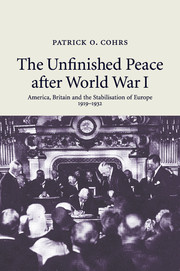 The Unfinished Peace after World War I