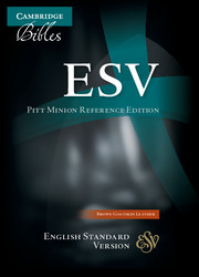 ESV Pitt Minion Reference Bible, Brown Goatskin Leather, ES446:X