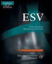 ESV Wide Margin Reference Bible, Black Edge-lined Goatskin Leather, ES746:XME