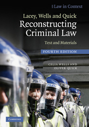 Lacey, Wells and Quick Reconstructing Criminal Law
