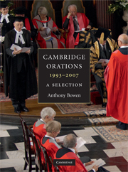 Cambridge Orations, 1993–2007