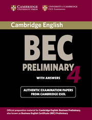 Cambridge BEC 4 Preliminary