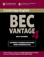 Cambridge BEC 4 Vantage