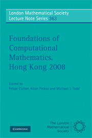 Foundations of Computational Mathematics, Hong Kong 2008