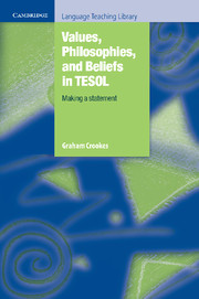 Values, Philosophies, and Beliefs in TESOL: Making a Statement