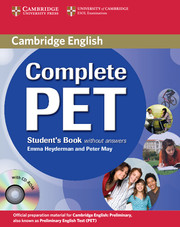Complete PET Student's Book without answers with CD-ROM