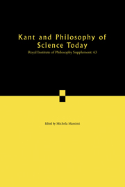 Kant and Philosophy of Science Today
