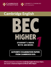 Cambridge BEC Higher 1